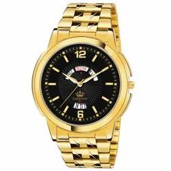 Men Gold Plated Watch