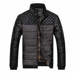 Full Sleeve Collar Neck Mens Winter Jacket, Size: S-XXL