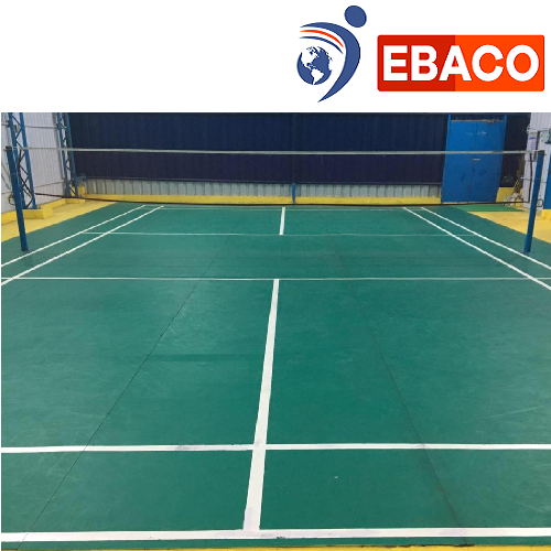 Badminton Court Construction - Synthetic Badminton Flooring