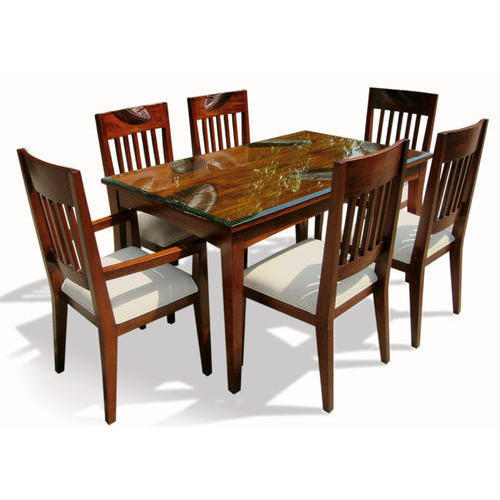 Rectangular Natural 6 Seater Dining Table Set For Home Rs 38000 Set Id 18610815273
