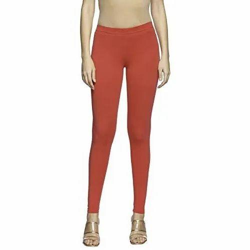 Go Colors Plain Brown Lycra Ankle Length Legging Rs 499 Piece Id 22502102873