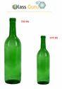 Green 750 Ml 750 Ml Wine Bottle