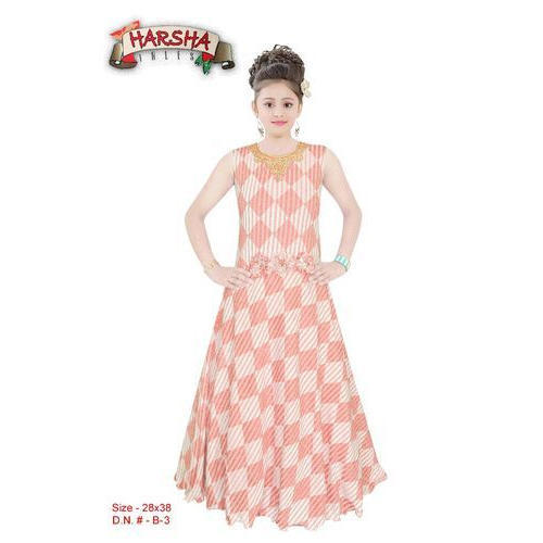 a46e5fd971 Chiffon Wedding Wear Harsha Kids Printed Gown