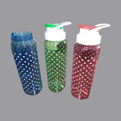 Red, Blue And Green Printed Drinking Bottle