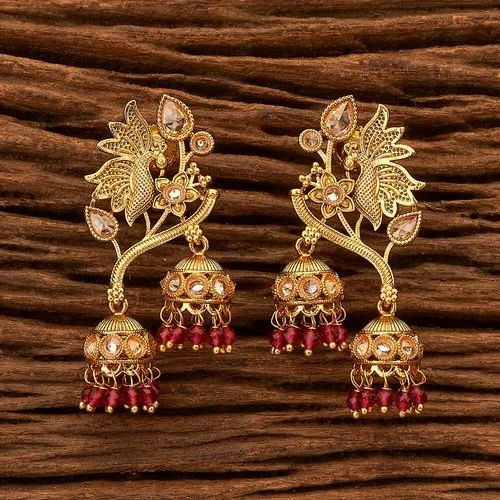 Antique Gold Plated Pea Earring 200422