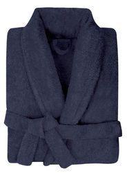 Dark Grey Pure Cotton Bathrobe With Premium Shawl Collar ec1ee35fd