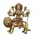 Mantra Gold Coatings Brown Brass Durga Statue 14 Inch