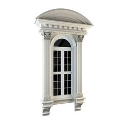 White Stylish GRC Window Frame