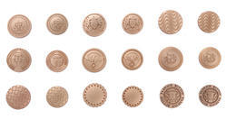 Round Matt Finish Metal Buttons