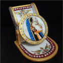 Yellow And White Marble Mobile Stand Holder