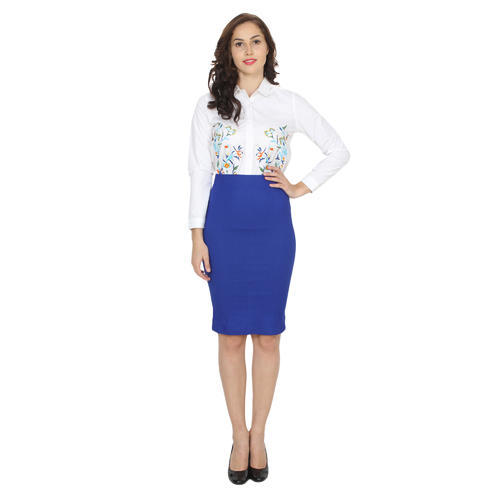 full range of specifications pretty nice special price for Royal Blue Ladies Pencil Skirts