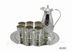 Pure Silver Fancy Jug Set With Tray