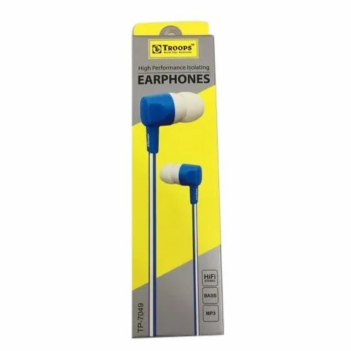 Mobile Troops TP7049 Wired Earphone, Packaging Type: Box