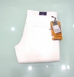 Premium White Cotton Mens Trouser