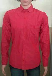 Cotton Plain Full Sleeve Shirts, Size: S, M & L
