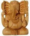 Nirmala Handicrafts Exporters Wooden Kan Ganesha Statue Religious Indian Hindu God Idol Figurine