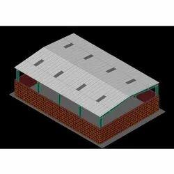 Steel Industrial PEB Shed