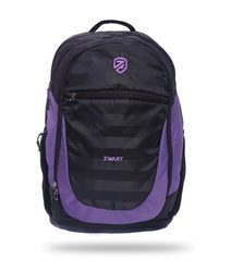 Zwart Polyester College Laptop Backpack