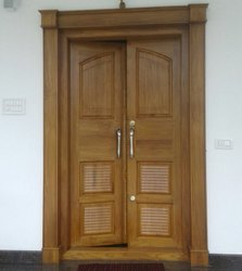 LRF Unfinished TEAK WOOD DOOR, Size: 100 X 200
