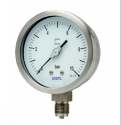 MP01 - All Stainless Steel Pressure Gauge - Bourdon Tube Greater Than Equal To Dn100