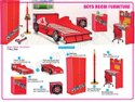 Red, Pink Wood And Plastic Boys Room Furniture