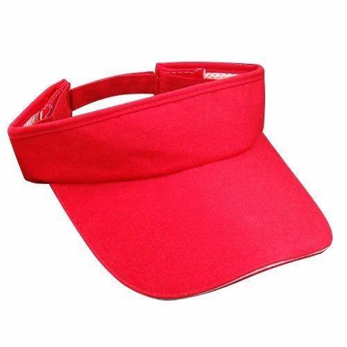 Red Sun Visor Golf Cap b0a7d7ca353