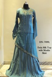 Silk Party Wear Gown