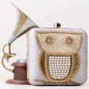 Golden Beaded Clutch Bag
