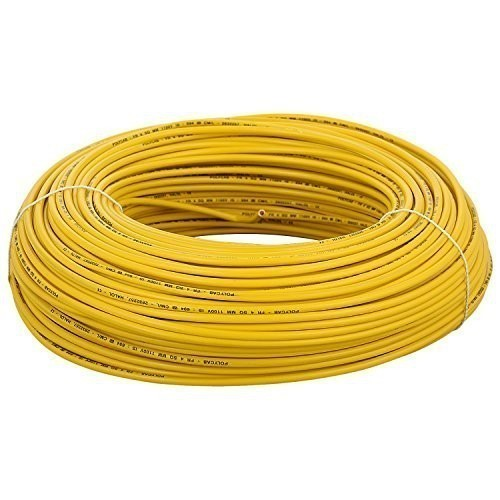 Champion Yellow PVC Insulated Electric Wire, Packaging Type: Roll