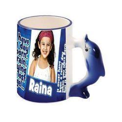Coffee Mug With Dolphin Handle