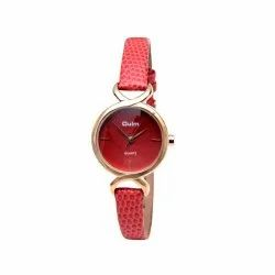 Oulm HP3725RE Analog Red Dial Women's Watch