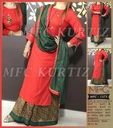MFC 1373 Rayon Kurti with Skirt