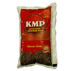 1 Litre KMP Kachhi Ghani Oil, Packaging Type: Pouched