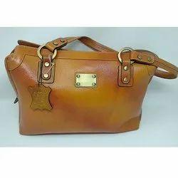 Dual Town Tan Leather Bag