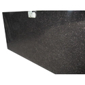 Jet Black Granite Slab, 5-10 Mm