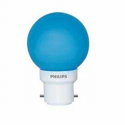 Round 0.5 W Philips B22 0.5w Blue LED Bulb Deco Mini