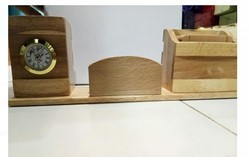 Wood Brown Wooden Pen Stand, for Interior Decor