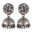 Old Look Silver Jhumki