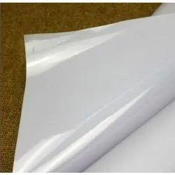White Plain PVC Frontlit Flex Banner Roll
