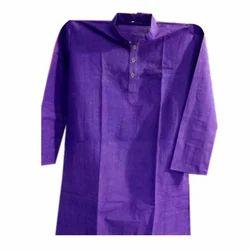 Plain Khadi Cotton Kurta