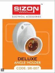 Plastic White Sizon Angle / Batten Holder for Electrical Fitting, Base Type: B22