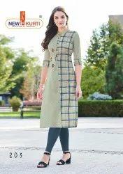 3/4th Sleeve Casual Wear Navika Elagant Style Rayon Digital Printed Kurti