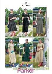 Latest Stylish Printed Rayon Gown Style Kurti