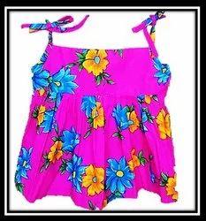 Rangresha Pink Soft Cotton Baby Frock, Size: 20