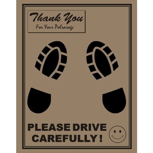 Brown Disposable Car Paper Foot Mat Size Universal