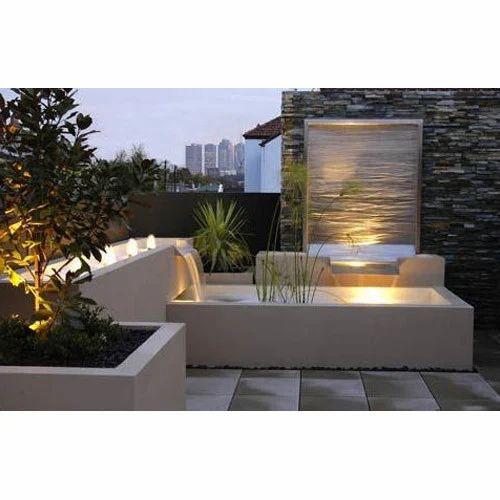 Modern Outdoor Water Wall Fountain, Size: 60 X 35 X 90 Cm ...