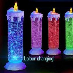Swirling LED Glitter Candle Lamp