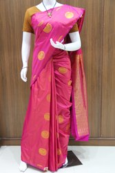 Pink Party Wear Ladies Art Silk Saree, 6.3 m (with blouse piece)
