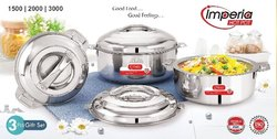 Arhanto Imperia 3pc Stainless Steel Casserole Gift Set
