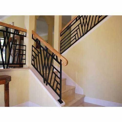 Mild Steel Staircase Railing, MS Railing, माइल्ड स्टील ...